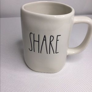 New Rae Dunn SHARE Mug Ivory Gift LL Magenta